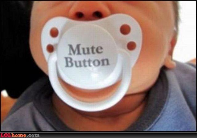 mute button. hate kids!. mute button hate kids!