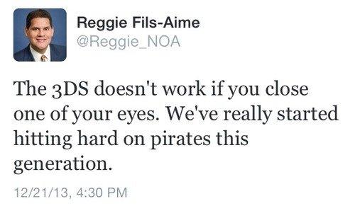 My Body. Is reggie.. you angered the pirates reggie reggie Nintendo 3DS