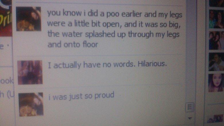 """My Friends.... . You know i did a poo . iial l wttf It i i tgt ali. ill E"""" L lili I it Poo WTF"""