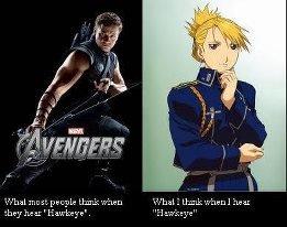 My Hawkeye's better. .. Riza Hawkeye! My Hawkeye's better Riza Hawkeye!
