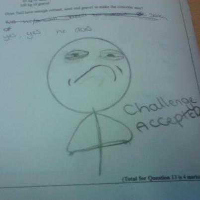 my mate's math test. . my mate's math test
