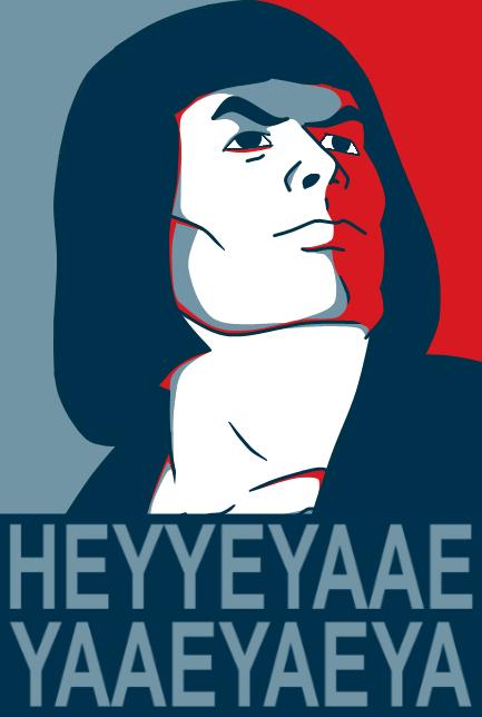 My vote for President. HEYYEYAAEYAAAEYAEYAA.. So I wake in the morning and I step outside... k