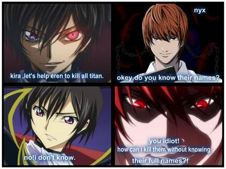 (untitled). go lelouch kill them. Kira Jet' s help men to kill all titan. own' tlt you know an itemes meme Like A Boss Cute Anime