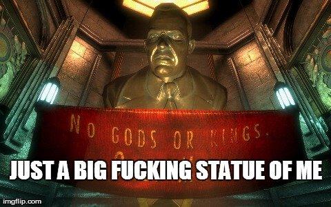 (untitled). . STATUE (ltr III i rrnpfg i Andrew ryan Bioshock irony