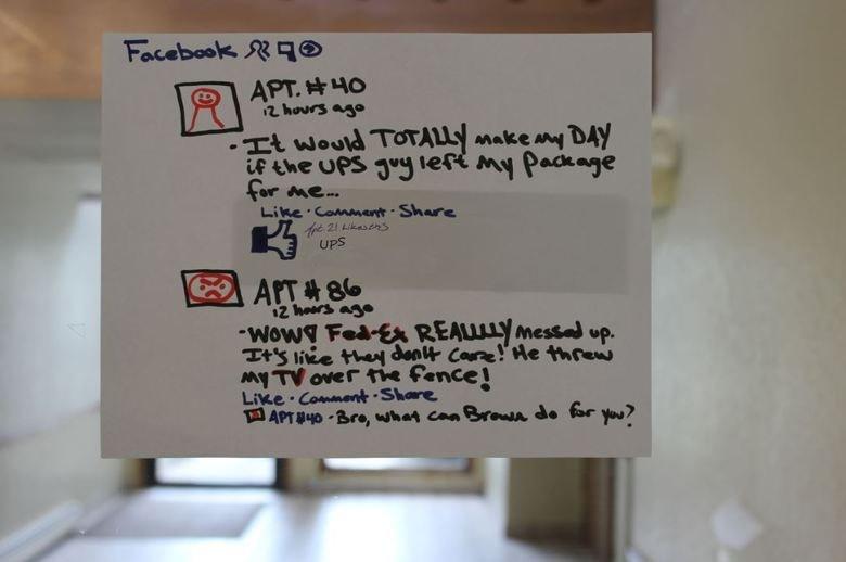 UPS liked my status IRL. . ups IRL status