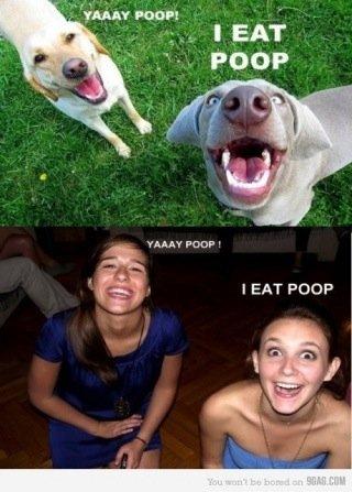 Yay poop. i eat poop. YAAYY ' l itim'. IEAT Poop poop