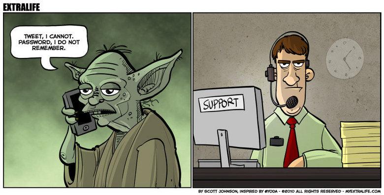 Yoda Tweet. True story. Yoda tweet cannot