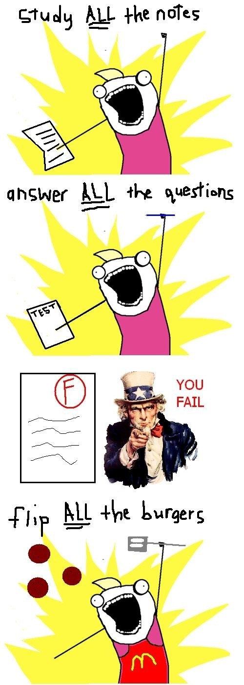 You fail. . You fail