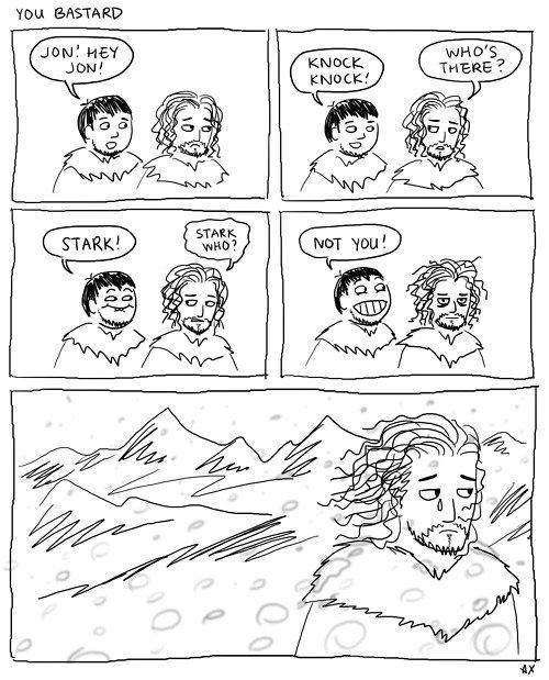 You know nothing Jon Snow. You Bastard. tou Ait You know nothing Jon Snow Bastard tou Ait