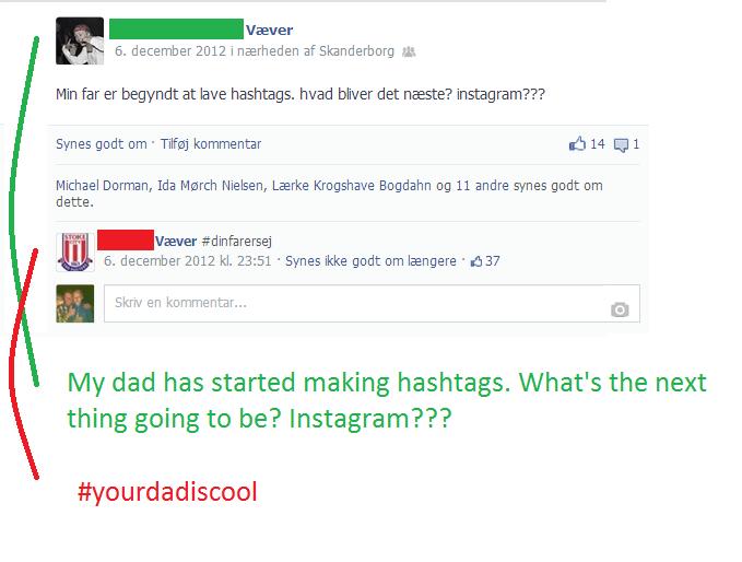 #yourdadiscool. 100% OC. 6. at at Min far er begynte at We hashtags. head blmr det nasta? instagram??? Ewes gent om . Tehaj kommentar 14 TI 1 Michael Darman, hi yourdadiscool dinfarersej
