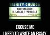 Satan's Essay