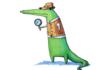 Aligator in a vest