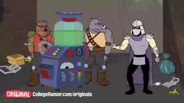 Ninja Turtles, what should have happened. All credit to lowbrow studios.. awesomeeeeeeeeee