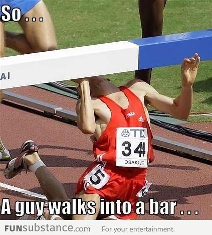 A guy walks into a bar. .. ouch funny lol meme