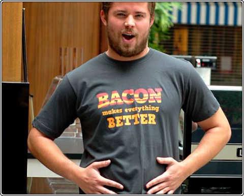 A real man's shirt. bacon. Bacon Shirt True life real man