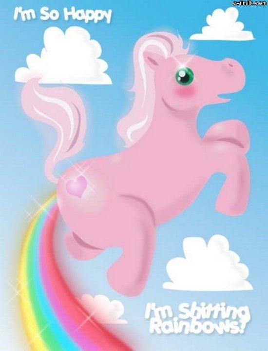 a very, very happy unicorn. . happy unicorn is