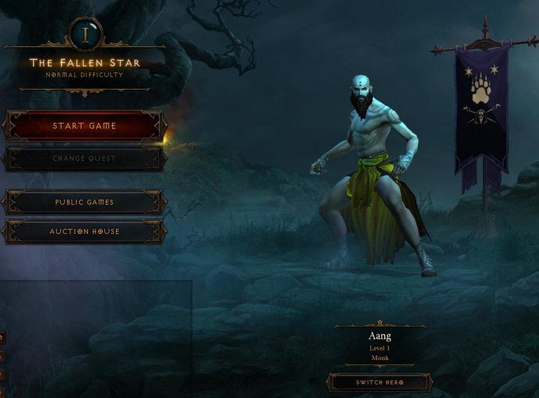 Aang Monk. Diablo III FTW. Kai; THE FALLEN STAR gig. START GATE PUBLIC GATES AL) CTION BEAUSE Aang I .crd I SWITCH HERE aang