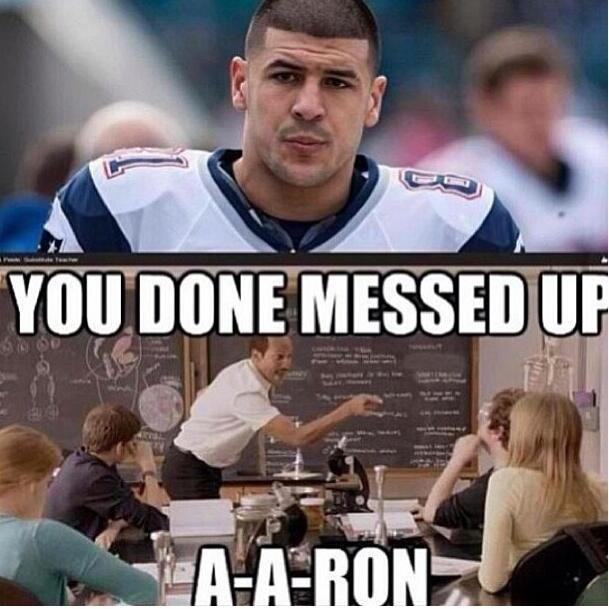 Aaron Hernandez. . I fill-. I don't get it. Aaron hernandez NFL patriots murder key Peele substitute