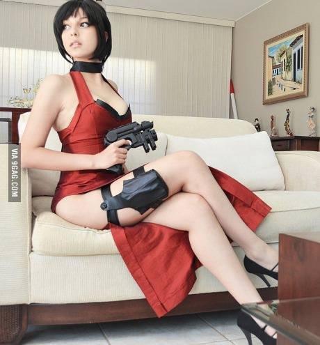 Ada Wong cosplay girl. source: . Ada Wong cosplay girl source: