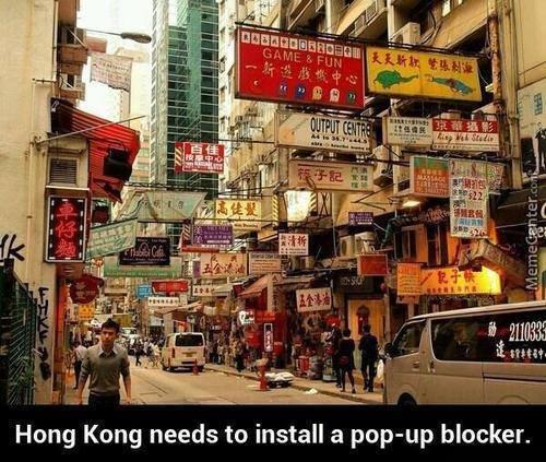 ADS. . Hong Kong needs to install a poppop blocker. ADS Hong Kong needs to install a poppop blocker