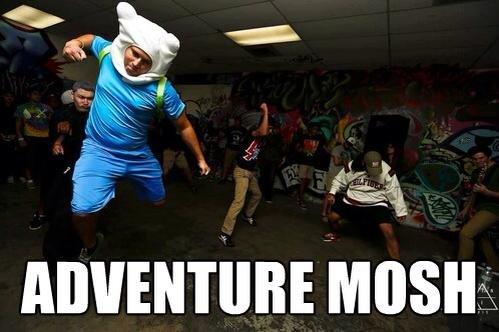 Adventure mosh. . metal