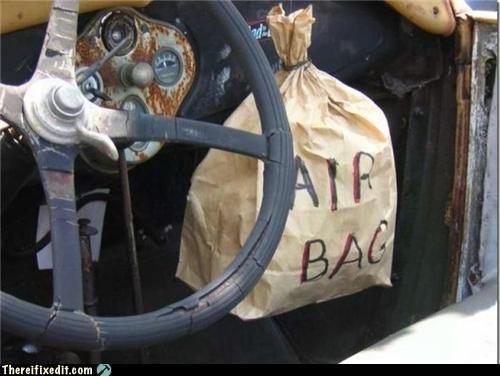 Air bag. Even my car hasn't got one.. air bag car