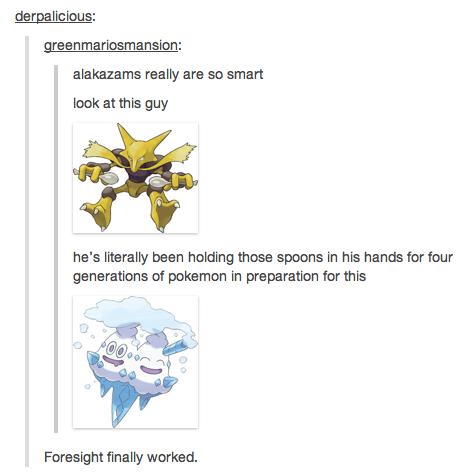 Alakazam is smart. Found on Pokememes.. I think they might be running out of ideas for pokemon funny tumblr Pokemon alakazam