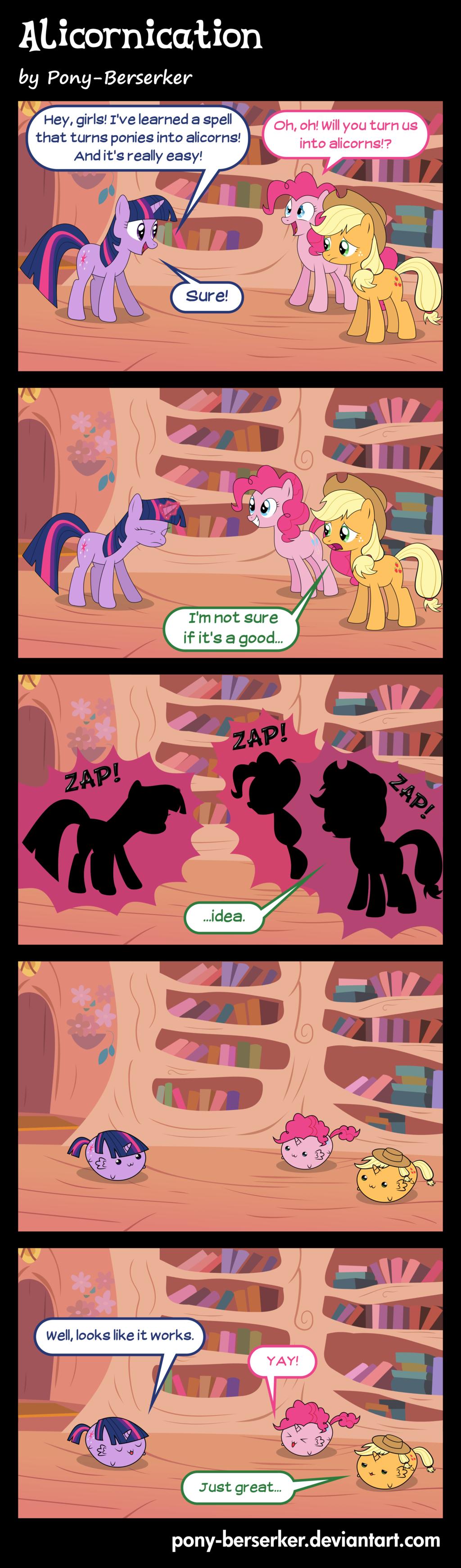 Alicornication. pony-berserker.deviantart.com/art/Ali..... I just had to. ponies comic
