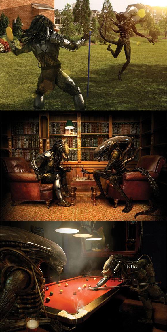 Alien VS Predator. The battle continues... No duh, it's the British edition. alien vs predator Daily activites who will win