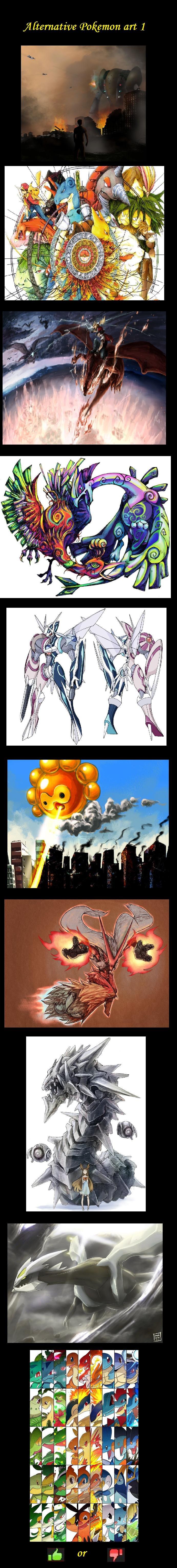 Alternative Pokemon Art. found these on the interwebz I've got plenty more so ill be making more comps dedz to original artists heres eeveelutions art: /funny_p Pokemon Alternative Art