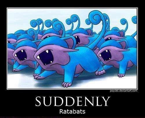 Always have a repel. . Rata bats Always have a repel Rata bats