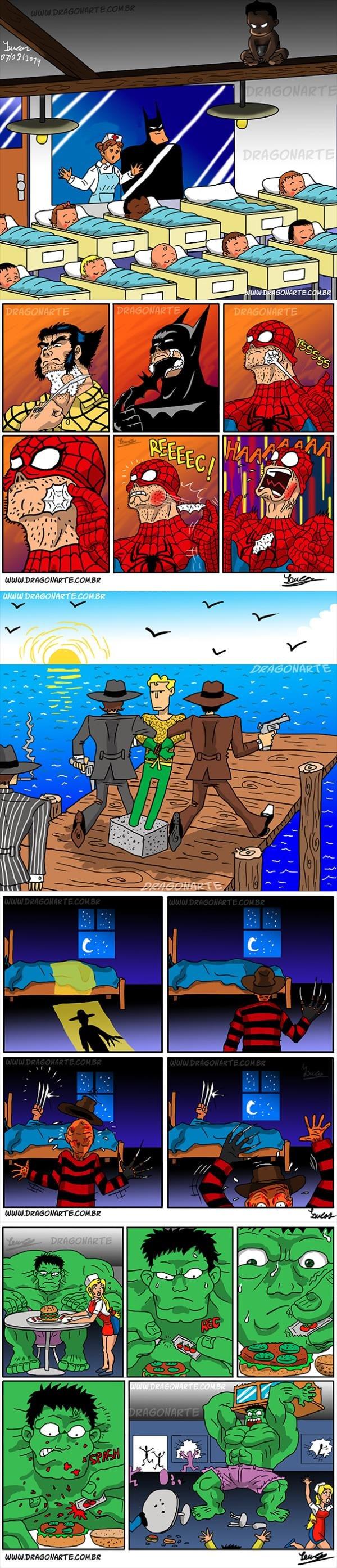 Amazing Superhero Jokes. thanks to dragonwarte.com.br just though i'd share. Superhero batman