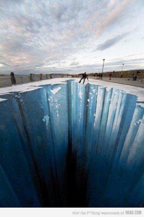 Amazing 3D street art.. . Amazing 3D street art