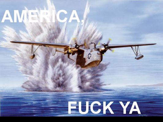 America, Fuck Yea. Original Content( I added the words)<br /> Go America, blowing up random since 1776!.. America No america fuck ya yea Go plane Explosion
