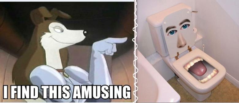 amuses me. .. I find it horrifying this Amuses me creepy WTF Toilet blizzfish