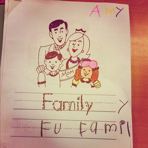 Amy says.... F U family. (Koreans). kids family korea english