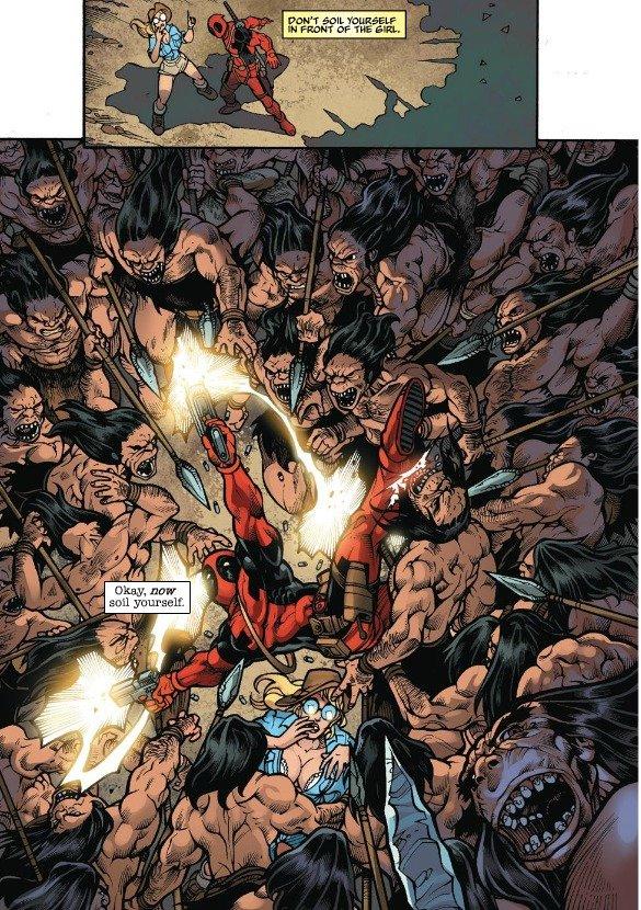 And it smells now. Well, even Deadpool soils himself!. Deadpool Gross