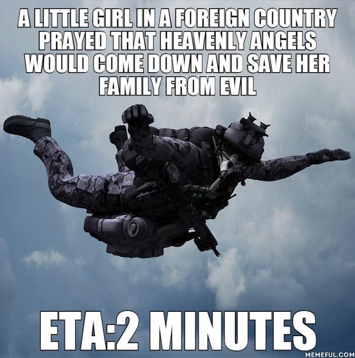 Angels of Democracy. ETA - Estimated Time of Arrival. mem iing! M EFEF UL.. PURGE THE HERETICS!!!! democracy freedom Army Murica