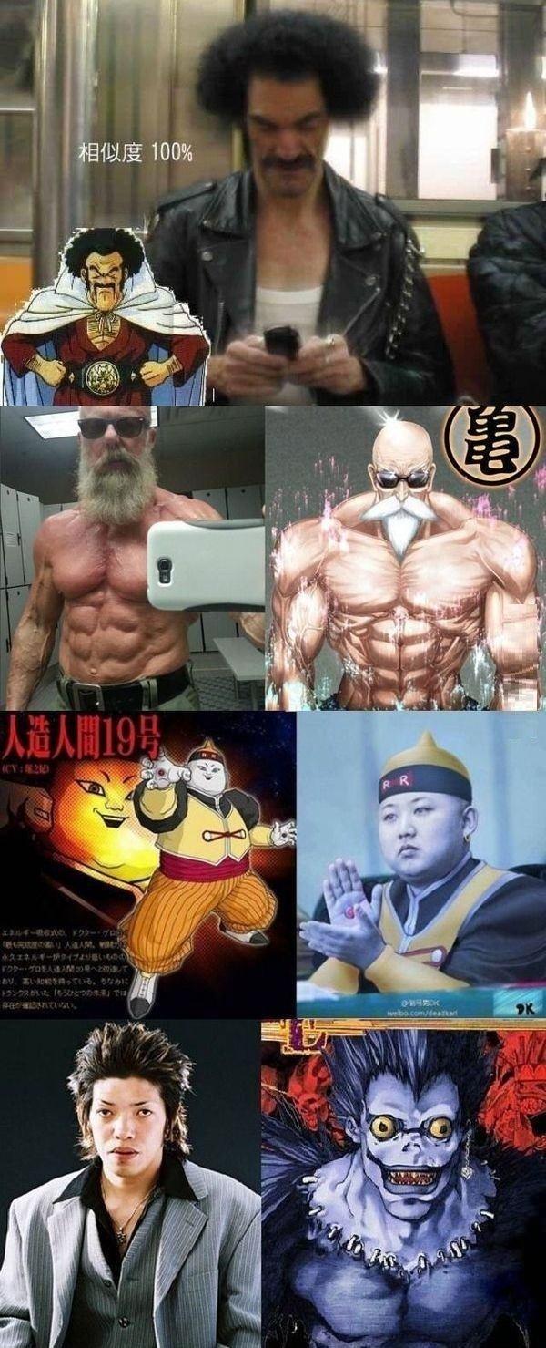 Anime character lookalikes. Uncanny.. The last one... Anime character lookalikes Uncanny The last one
