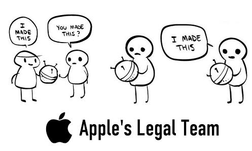 Apple's Team. Heh, it's true, I own a Mac. Captcha: 413+7 Not OC.. tit Apple' s Legal Team. was bothering me True