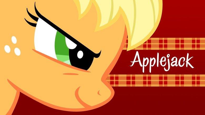 "Applejack ""Determination"" Wallpaper. Got inspired by the many Applejack episodes that keep popping up! Here's the result.  DeviantArt: techs181 Applejack My Little Pony wallpaper"