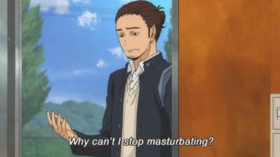 Asahi's Problem. More here: www.youtube.com/user/squabanime and here: www.facebook.com/pages/Squab/220040661488110?ref=hl. btrs: y can 't masturbating? Anime manga funny hilarious comedy comic comical haikyuu asahi masturbation