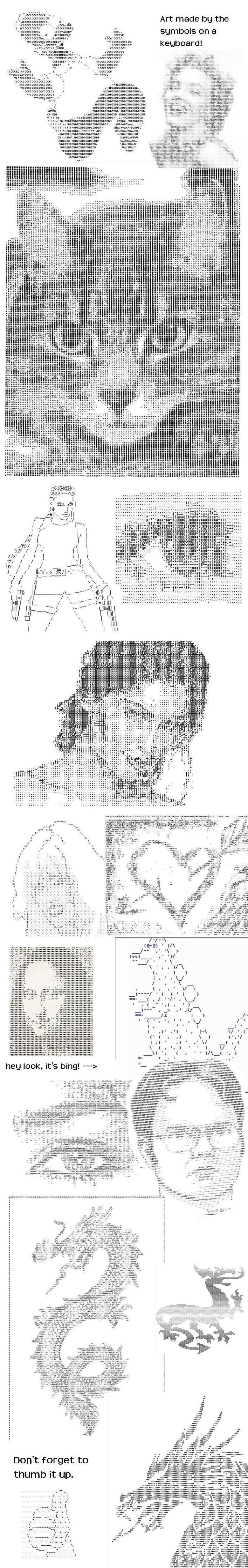 ASCII Art. Pretty cool, huh?.. dwight ascii Art cool Awesome