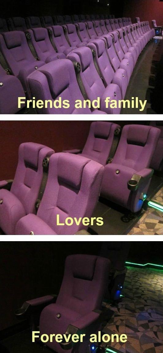 At the cinema. . Friends and family Forever alone asdasdasdsad