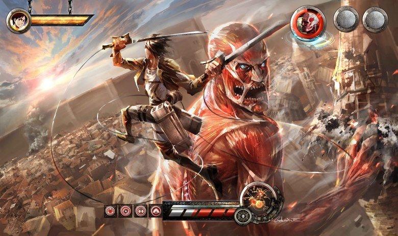 Attack on Titan pc game.. No, that's just some fan art. Levi Eren Mikasa Jean Sasha Petra Armin Even Admin is here. (That's actually Marco, the half face guy) E Sasha