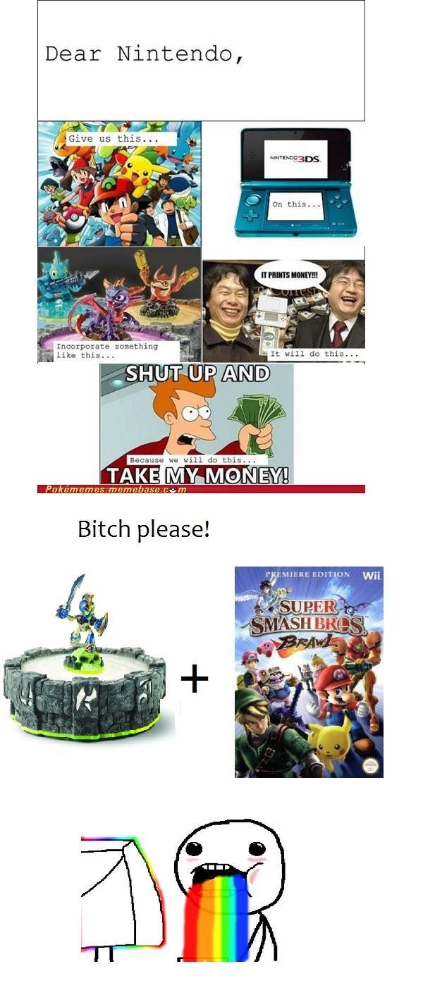 awesome + awesome. . Dear Nintendo,. Skylanders is terrible skylanders smash