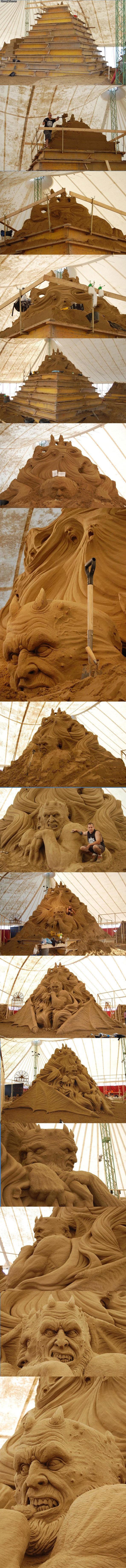 Awesome sand castle. .. i came Awesome sand castle i came