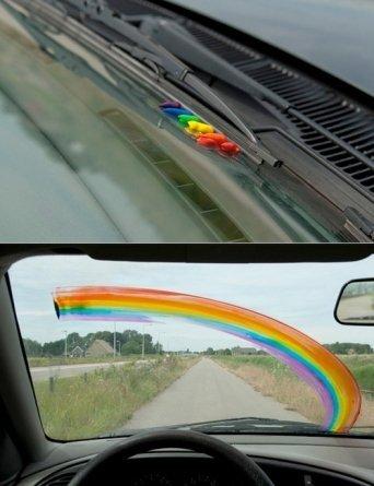 Awesome Rainbow Prank. I love this one!. Rainbow pwned