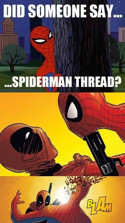 Deadpool Killing Spiderman. Check out my page at www.facebook.com/AlexMasonDoesExist. DID SAY; THREE? Spiderman death Deadpool comics Marvel