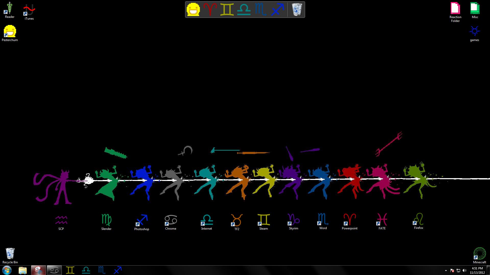 Desktop. I thought you guys would like my custom desktop.. Desktop I thought you guys would like my custom desktop